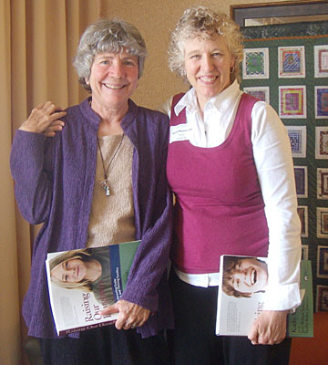 Mary Pipher (left) with Kathy Masarie