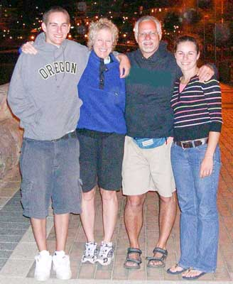 Jon, Kathy, Chip and Kaitlin on vacation as adults in 2008